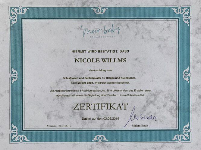 Zertifikat Schlafcoaching